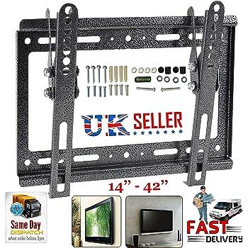 Soporte de pared para TV TLT para 14 19 21 23 26 32 37 40 42 pulgadas Plasma 3D LED LCD: Amazon.es: Bricolaje y herramientas