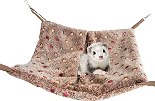 Niteangel Hanging Hammock Nap Sack Swing Bag Pet Sleeper for Ferret Rat Sugar Glider and Other Small Animals