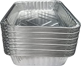 TYH Supplies 20-Pack Aluminum Foil BBQ Grease Drip Pans Compatible with Weber Grills Q, Pulse, Spirit, Spirit II, Genesis II LX 200 and 300 Series Gas Grill 7.5 x 5 Inch