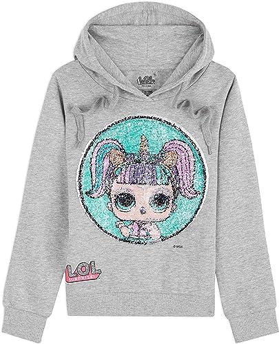 L.O.L. Surprise ! Sudadera con Capucha Niña Muñecas LOL Kitty Queen y Unicorn,Suéter Manga Larga con Estampado de Len...