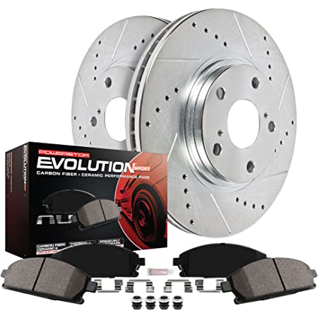 Fits: 2007 07 2008 08 2009 09 2010 10 2011 11 Acura RDX Max Brakes Front Performance Brake Kit KT041031 Premium Slotted Drilled Rotors + Ceramic Pads