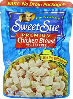 SWEET SUE Chicken Breast, High Protein Food, Keto Food and Snacks, Gluten Free Food, High Protein Snacks, Bulk Canned Food...