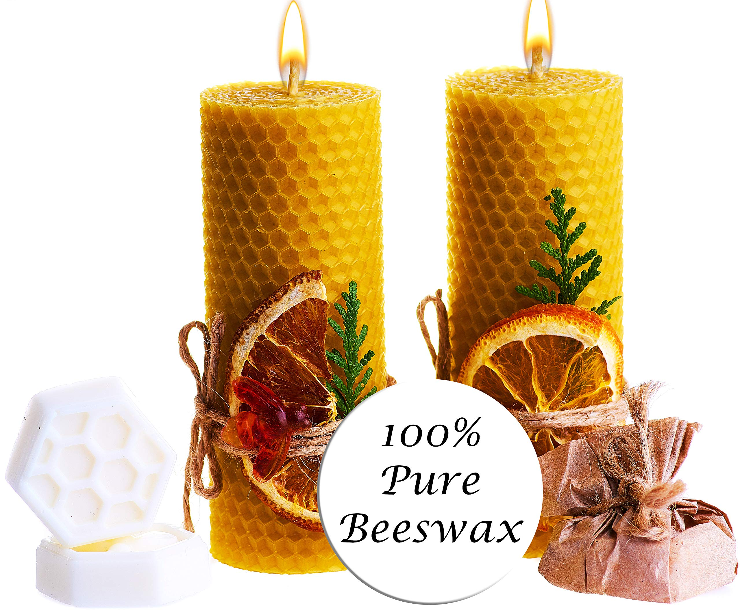 Beeswax Gifts Candles Scented Pillar