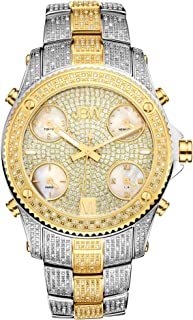 JBW Luxury Men's Jet Setter 234 Diamonds Five Time Zone Swiss Movements Watch