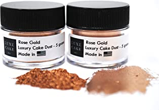 (2 pack) Rose Gold Luxury Cake Dust, 10 grams total, USA Made
