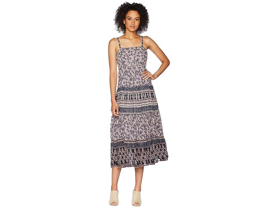CHAPS Floral-Print Cotton Dress (Blue/Multi) Women