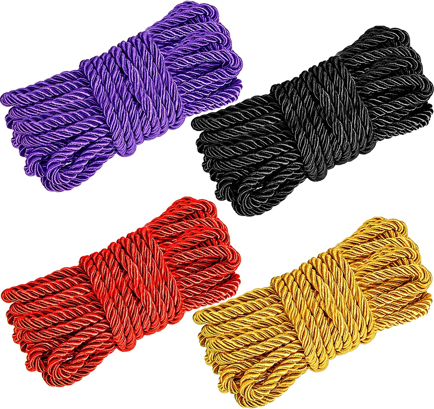 4 Pieces 66 Feet Braided Twisted Silk Diameter Soft 8 Max 50% OFF sold out Ropes mm