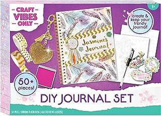 مجموعة مجلة Good Vibes DIY من Craft Vibes فقط - مذكرات شخصية - مجلة مخصصة للبنات - مجموعة سجل قصاصات لكتابة مبتكرة - تخصيص...