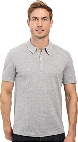 Short Sleeve Mercerized Pique Polo w/ Tonal Embroid Croc