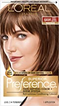 L'OrÃal Paris Superior Preference Fade-Defying + Shine Permanent Hair Color, 6AM Light Amber Brown, 1 kit Hair Dye , 1 Count