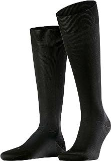 Mens 1 Pair Falke Ultra Energising Cotton Compression Socks Black 7-8 (41-46cm Calf Width) Mens