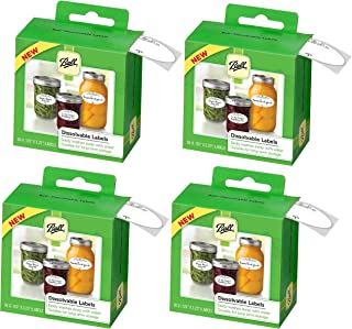 Ball Dissolvable Canning Labels, 60 Count Each Box (4 PACK)