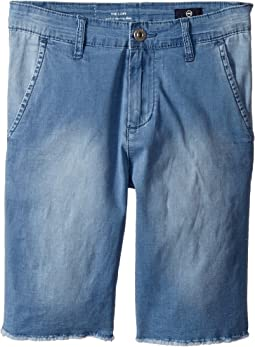 Washed Chambray Chino Shorts (Big Kids)