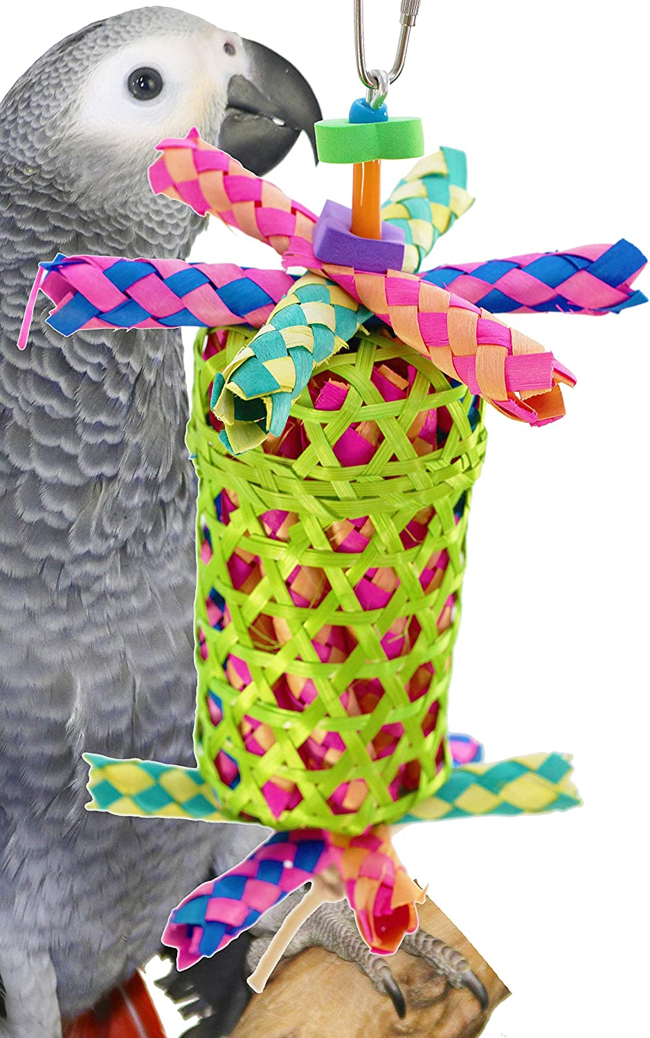 Bonka Bird Toys 1755 Large Drum Cage Toys Cages Foraging Chew Shredder Amazon. Quality Product Hand Made in The USA.