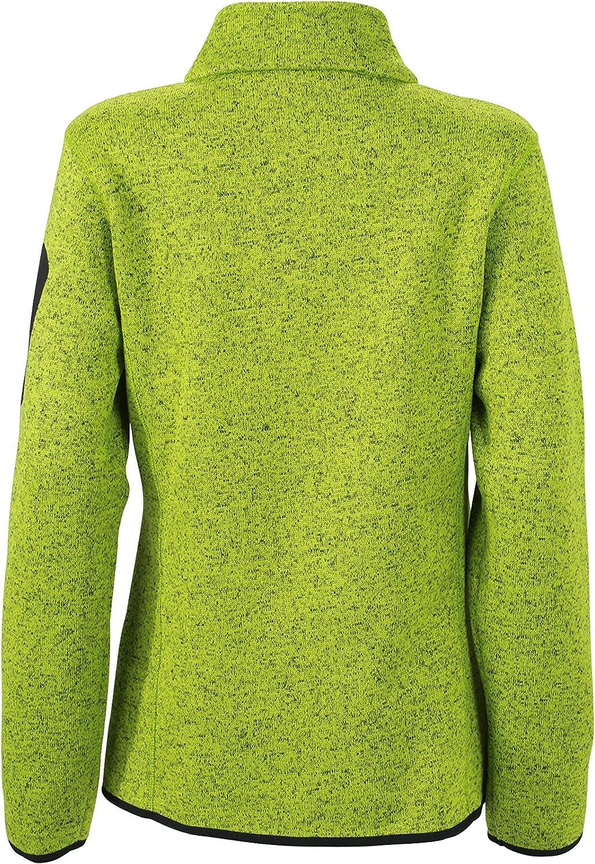 James & Nicholson Damen Jacke Jacke Knitted Fleece Jacket Kiwi-melange/Royal