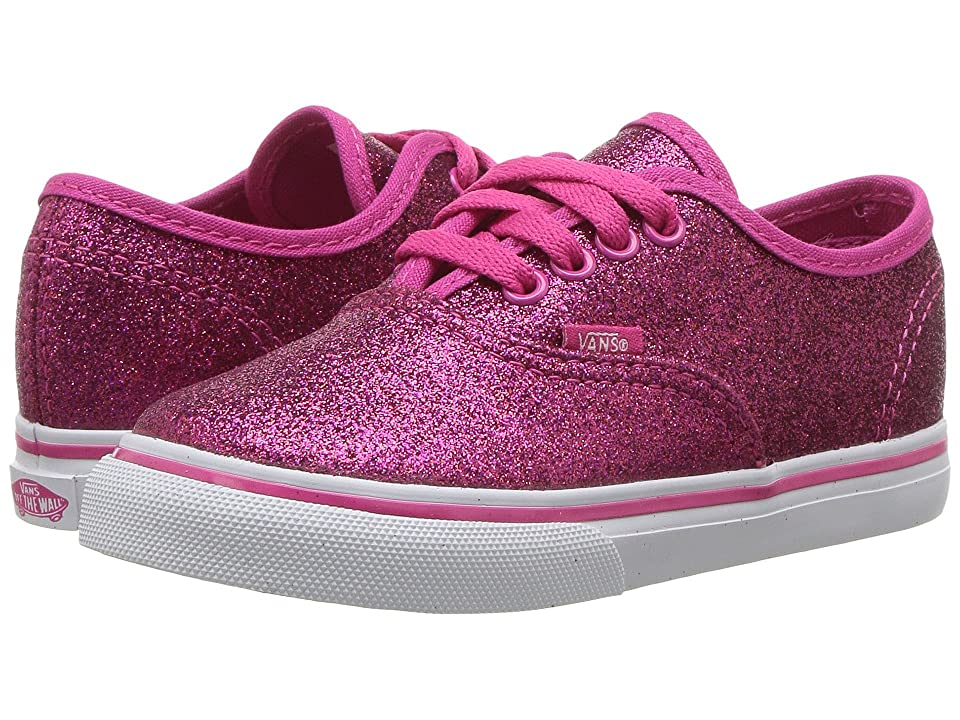 Vans Kids Authentic (Toddler) ((Glitter) Rosy) Girls Shoes