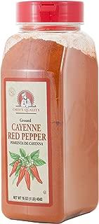 Ground Cayenne Red Pepper Powder- Chefs Quality, 1 LB (16Oz)