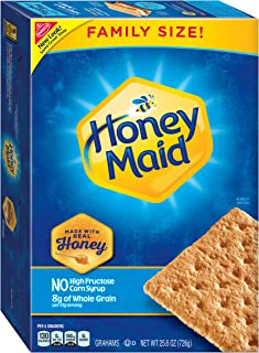 Honey Maid Family Size Graham Crackers | Great for S'mores | 25.6 ounce box