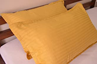 Trance Home Linen Cotton Pillow Covers - Golden Yellow
