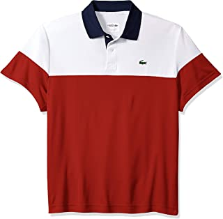 Men's Sport Short Sleeve Color Blocked Polo