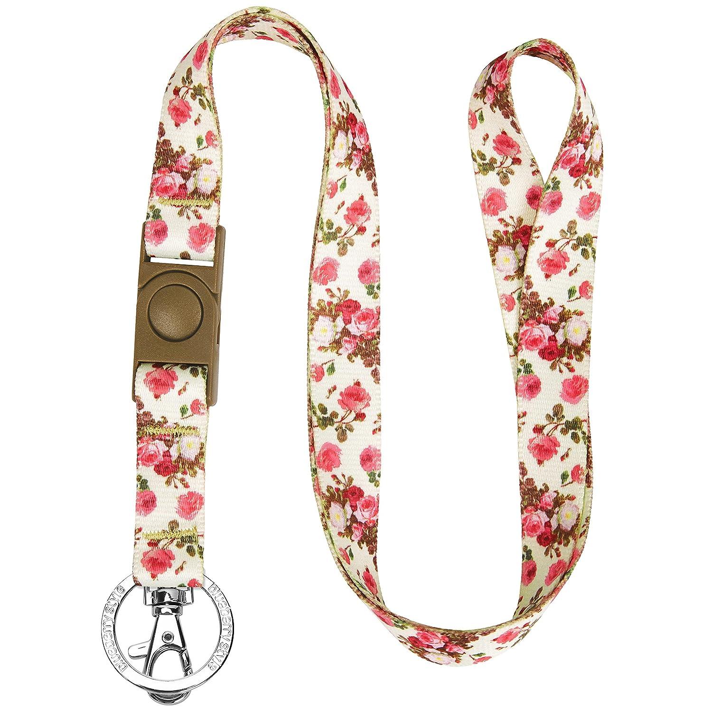 ブルーベリーペットSpring Scent Inspired Floralレディースファッションストラップ付きキーチェーンキー/IDカード/バッジホルダーwith Safety Breakawayリリースバックル Lanyard - 3/4