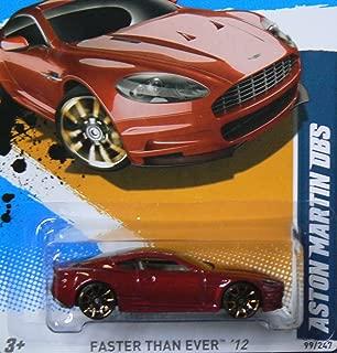 Hot Wheels Aston MartDBS Metalflake Dark Red 2012 Faster Than Ever Card 99