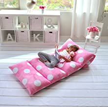 Girl's Floor Lounger Seats Cover and Pillow Cover Made of Super Soft, Luxurious Premium Plush Fabric - Perfect Reading and...