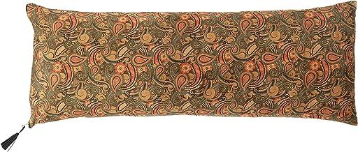 Creative Co-Op Paisley Polyester Lumbar Pillow, Brown
