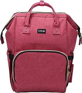 LuvLap Lily Travel Multifunctional Waterproof Diaper Bag-Backpack Cum Tote Bag (Pink)