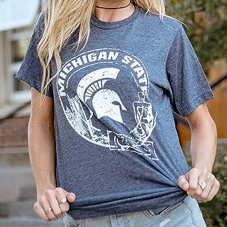 MSU Michigan State University Spartans Passport Ultra Soft T-Shirt - Printed in East Lansing, Michigan