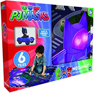 PJ Masks 6Pc Mega Floor Mat with Vehicle Playmat with Vehicle