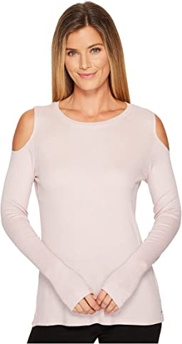 Ivanka Trump - Long Sleeve Cold Shoulder Knit Tee