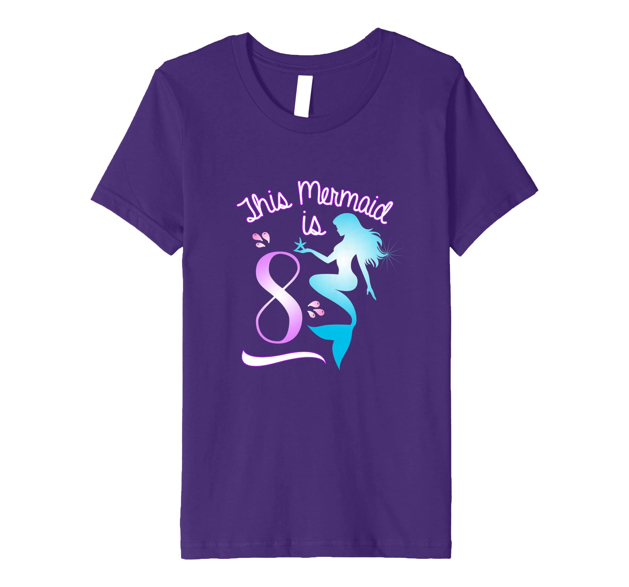 Amazon Girls 8th Birthday T Shirt Mermaid Party Clothing