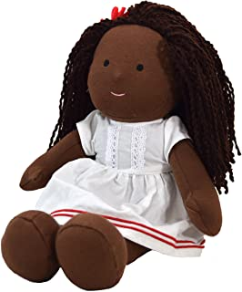 One Dear World 32cm Soft Rag Doll - African Black Natural Hair Girl Hope with Removable Clothes for Toddlers and Young Children