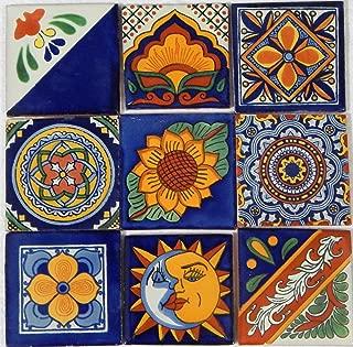 Color y Tradicion 9 Hand Painted Talavera Mexican Tiles 4