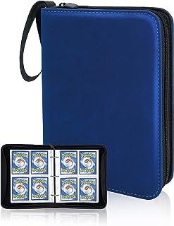 CLOVERCAT 4 Pocket Trading Card Binder, Waterproof Card Album Display Holder, Expandable, 400 Double Sided Pocket Compatib...