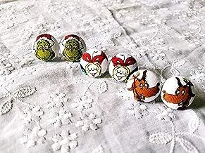 Grinch Earrings- Grinch Jewelry- Grinch Button- Christmas Earrings- Christmas Jewelry