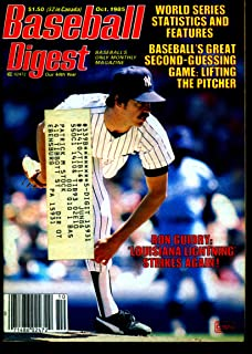 BASEBALL DIGEST OCT 1985 RON GUIDRY YANKEES EX