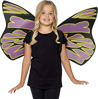 Smiffys Glow in The Dark Flutter Wings Size: One Size
