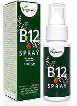 VEGAVERO® Vitamin B12 SPRAY | 1000 µg Methylcobalamin pro Tag | Bioaktive B12-Formen | Hochdosiert | Energie* – Blut* – Immunsystem* | Laborgeprüft | Kirschgeschmack | Vegan