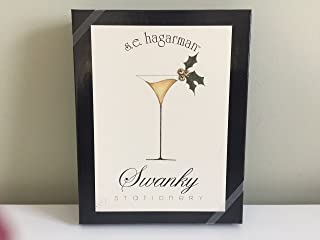 S.E. Hagarman Swanky Stationary, Holiday Martini, 8 cards/8 envelopes