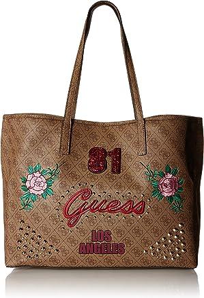 9a20b7779c9ae4 Guess Handtaschen Damen, Farbe Braun, Marke, Modell Handtaschen Damen Vikky  Large Tote Braun
