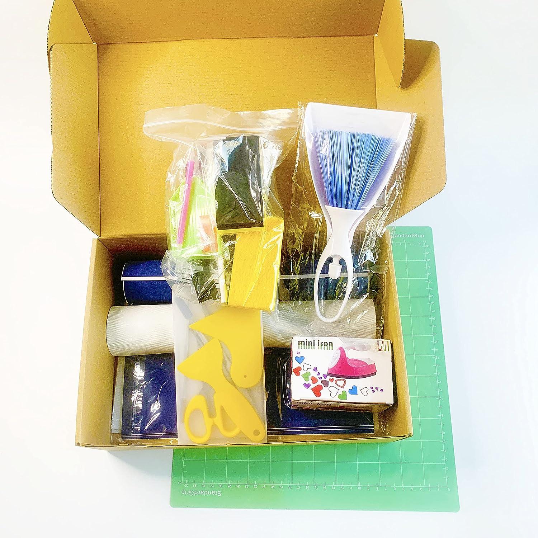 Magic sticky flock Rhinestone Template mart Option 1 DIY Bargain Kit