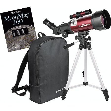 Orion 10034 GoScope II 70mm Refractor Travel Telescope Moon Kit (Burgundy)
