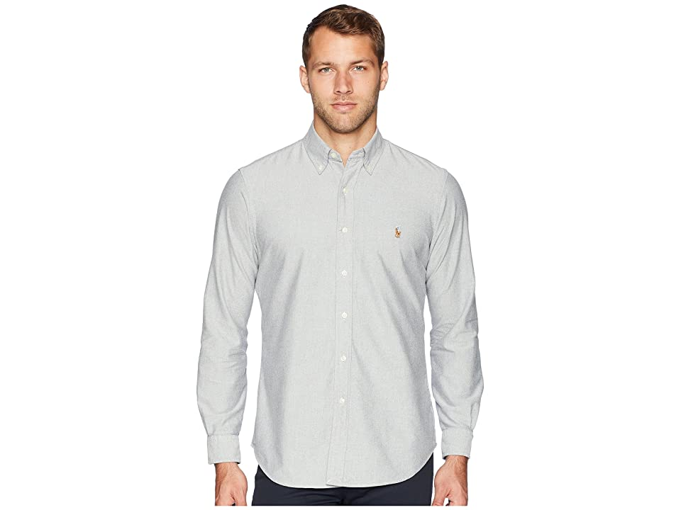 Polo Ralph Lauren Oxford Button Down Sport Shirt (Slate/White) Men