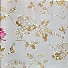 ورق جدران من كلوريد متعدد الفينيل باللون الأبيض 53 سم × 10.05 م
