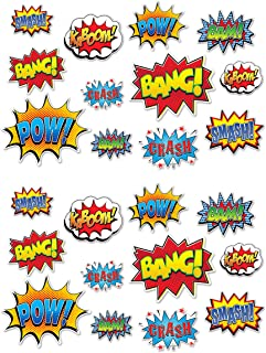 Beistle 59902 24 Piece Hero Action Sign Cutouts, 6