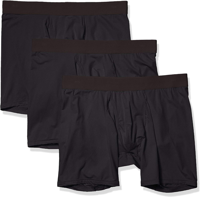 Marca Amazon - Goodthreads 3-pack Lightweight Performance Knit Boxer Brief - boxer-briefs Hombre