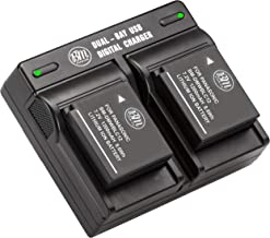BM Premium 2 Pack of DMW-BLC12 Batteries and Dual Bay Charger for Panasonic Lumix DC-FZ1000 II DC-G95 DMC-G85 DMC-GH2 DMC-...