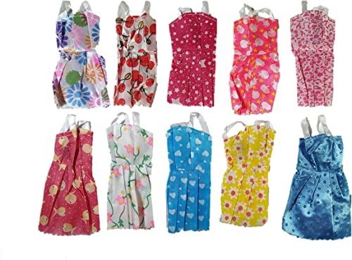 Toyfi Children S First Choice Handmade Party Dress Fashion Clothes Compatible With Any Standard Size Dolls 10 Pieces